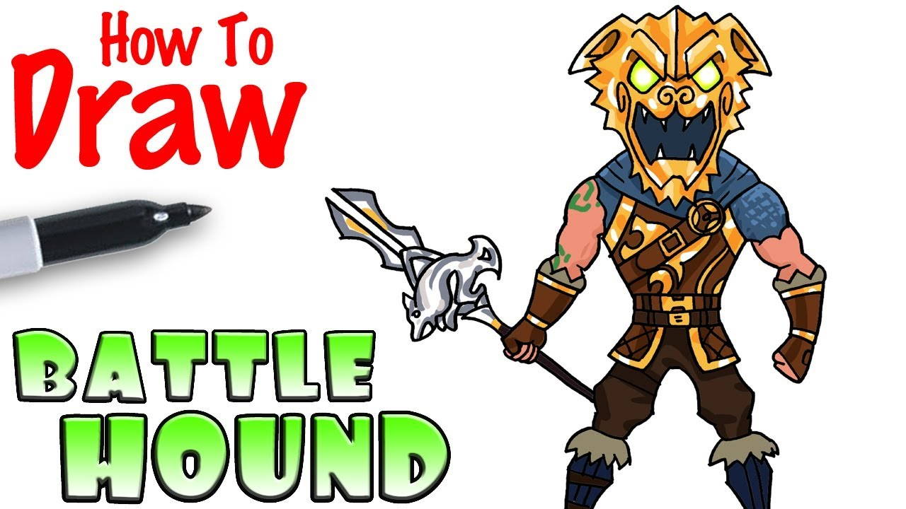 How To Draw The Battle Hound Fortnite Youtube