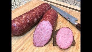 ДОМАШНЯЯ КОЛБАСА Любительская для Завтрака,  Легко и Просто Мастер-класс. Homemade Sausage.