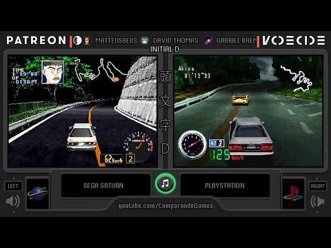 Initial D Sega Saturn Vs Playstation Side By Side Comparison