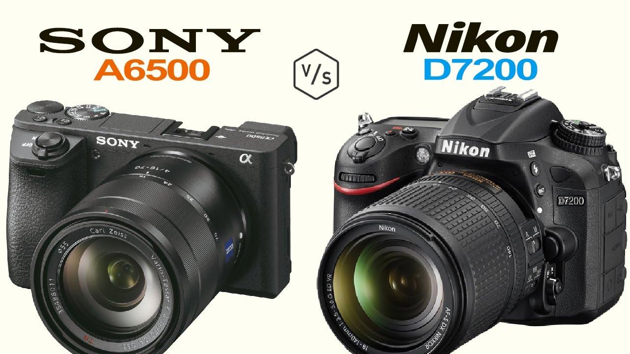Kết quả hình ảnh cho Nikon D7500 vs Sony A6500 – Comparison