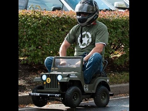 Adult Power Wheels Racing Army Jeep Youtube