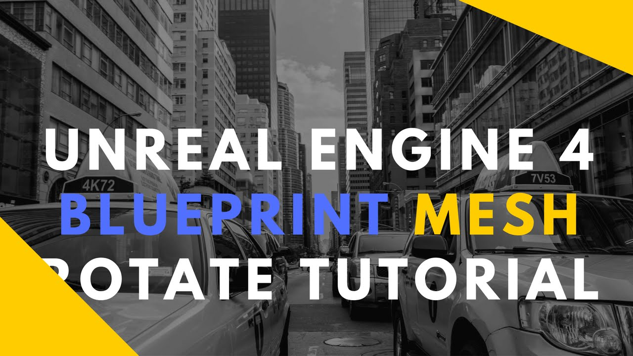 Unreal Engine 4 Rotate Static Mesh Blueprint Tutorial