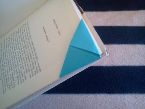 DIY Origami bookmark (Folding instructions)- Punto libro de papel (instrucciones)