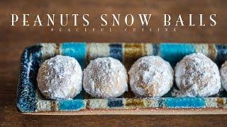 Peanuts Snow Balls (vegan) ☆ ピーナッツスノーボールクッキーの作り方