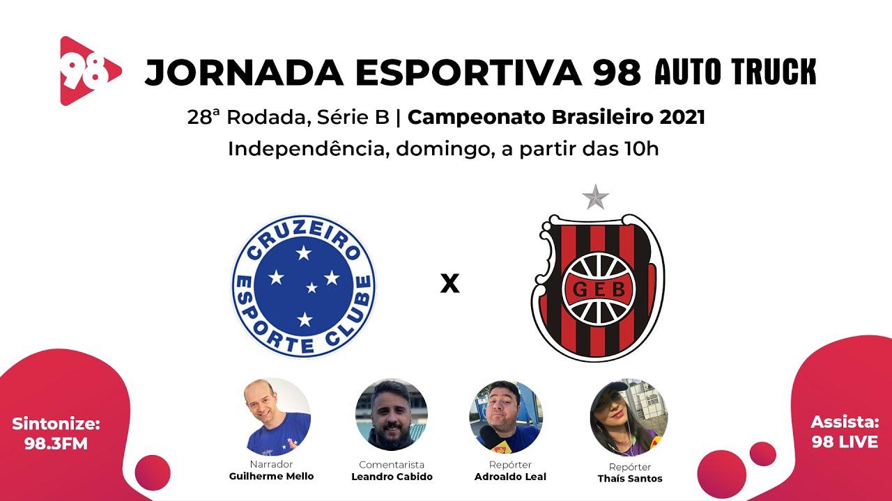 Download CRUZEIRO X BRASIL DE PELOTAS - 28ª RODADA, SÉRIE B, CAMPEONATO BRASILEIRO 2021 - AO VIVO RÁDIO 98FM