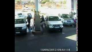 Two On One Fight At Petrol Station