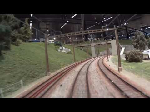 Model Railway Layout with Cab Ride of Beautiful Swiss Trains in HO scale