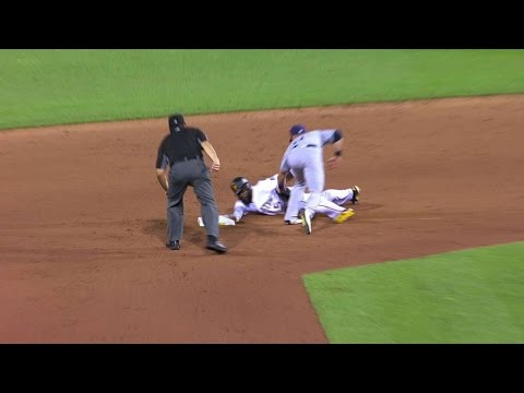 SD@PIT: Harrison's slide avoids tag after challenge