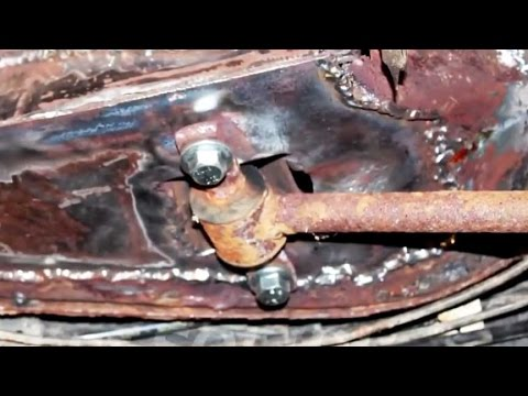 Repairing a rusted unibody trailing arm mount