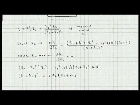 Teorema De Maxima Transferencia De Potencia - Circuitos Electricos - Video 115
