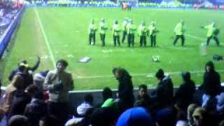 Carling Cup Pitch Invasion Police Charging