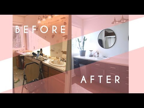 CHEAP BATHROOM RENOVATION | BEFORE & AFTER TOUR