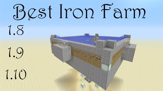 IRON FARM  Tutorial Simple Easy To Build And Efficient Minecraft Xbox One Pc Ps4