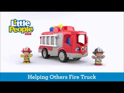 Smyths Toys - Fisher-Price Little People Helping Others Fire Truck