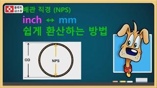 [배관교육] 배관 인치(inch)와 밀리미터(mm) 단…