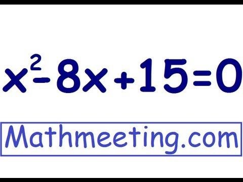Solving Quadratic Equations By Factoring
