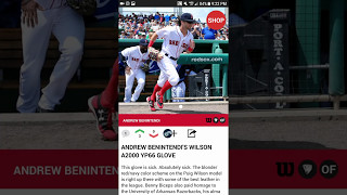 Andrew Benintendi's Gear in the WPW Baseball Gear APP