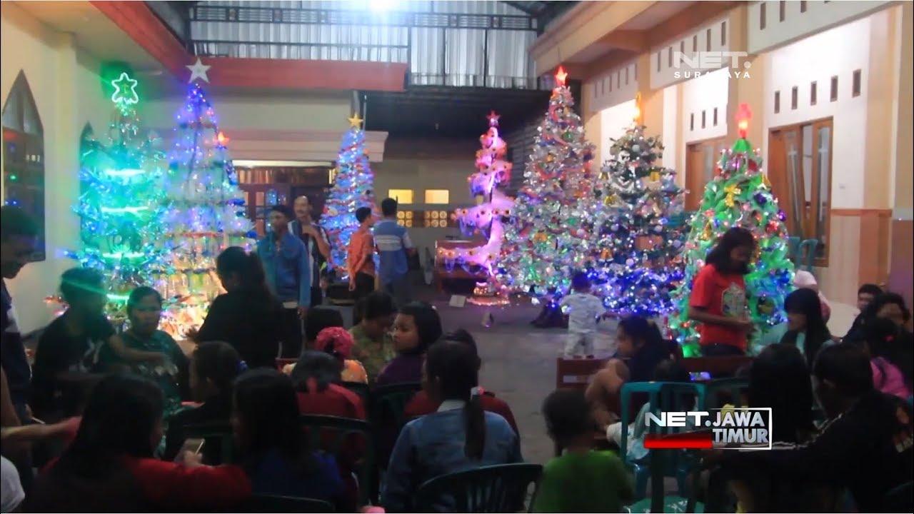 Net Jatim Adu Kreasi Membuat Pohon Natal Dari Barang Bekas