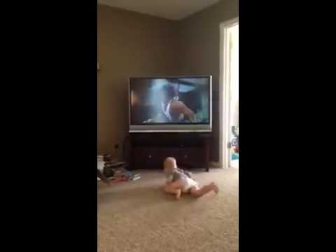 Baby Works Out with Sylvester Stallone in Rocky II