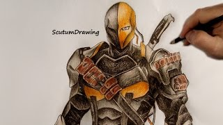 Deathstroke - Speed Drawing - How To Draw - DC comics