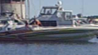 Poker Run 2013 Kingston Ontario (Boats leaving dock)