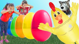 Johny Johny yes papa - children songs | Kids video with Surprise  Eggs | Chiki-Piki