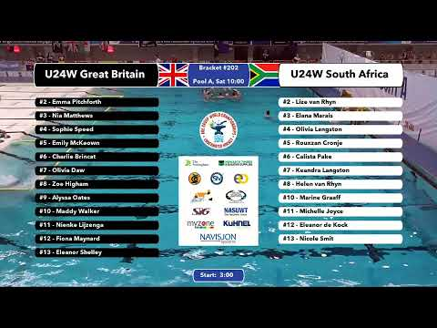 Game 201 (RSA vs ESP U19M) SPAINISH - 5th CMAS Underwater Hockey Age Group Worlds - Sheffield, UK