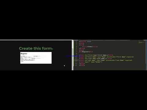 How To Create A Registration Form On A Website By HTML Through SUBLIME TEXT 3