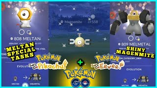 🔴 LIVE 🔴 SHiNY MAGNEMiTE + MELTAN SPECiAL RESEARCH + LETS GO POKEMON CROSSOVER EVENT | POKEMON GO
