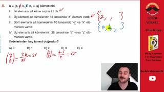 Kombinasyon 1 (Miray Yayınları AYT Soru Bankası Çözümleri)
