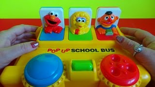 poppin pals sesame street pop up school bus with elmo ernie and big bird