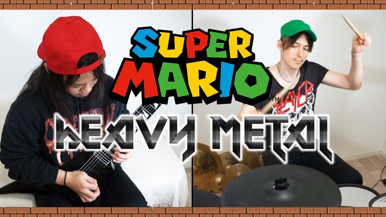 Super Mario Bros Metal Cover【マリオメタルカバー】