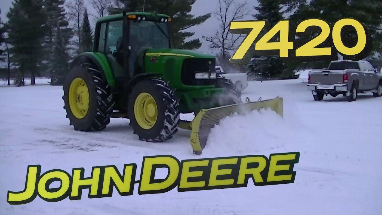 John Deere Snow Plow : John deere with snow plow plowing youtube