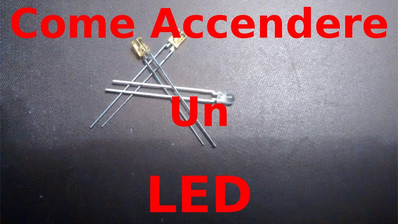 Schema Elettrico Per Accensione Led : Elettronica per principianti accendere un led andrea m