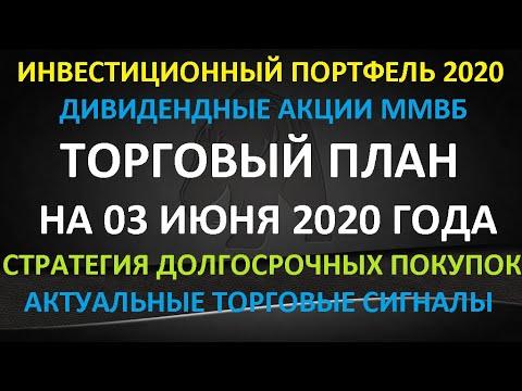 ТОРГОВЫЙ ПЛАН на 03 июня 2020 года - акции ММВБ. Стратегия покупок на долгосрок. Торговые сигналы.