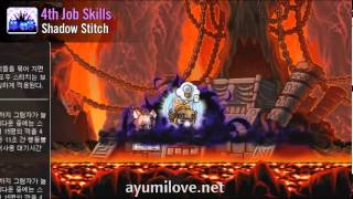 Ayumilove MapleStory Night Walker 1st 2nd 3rd 4th Job Skill Preview Videos  (KMST 1.2.501)