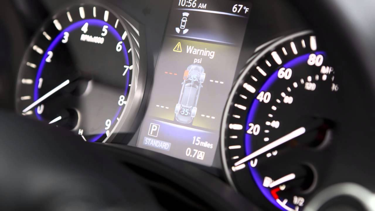 2015 Infiniti Q50 - Tire Pressure Monitoring System (TPMS) with Tire Inflation Indicator - YouTube & 2015 Infiniti Q50 - Tire Pressure Monitoring System (TPMS) with ... azcodes.com