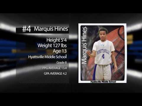 Marquis HInes Class of 22' Basketball Highlights (Hyattsville MIddle School)