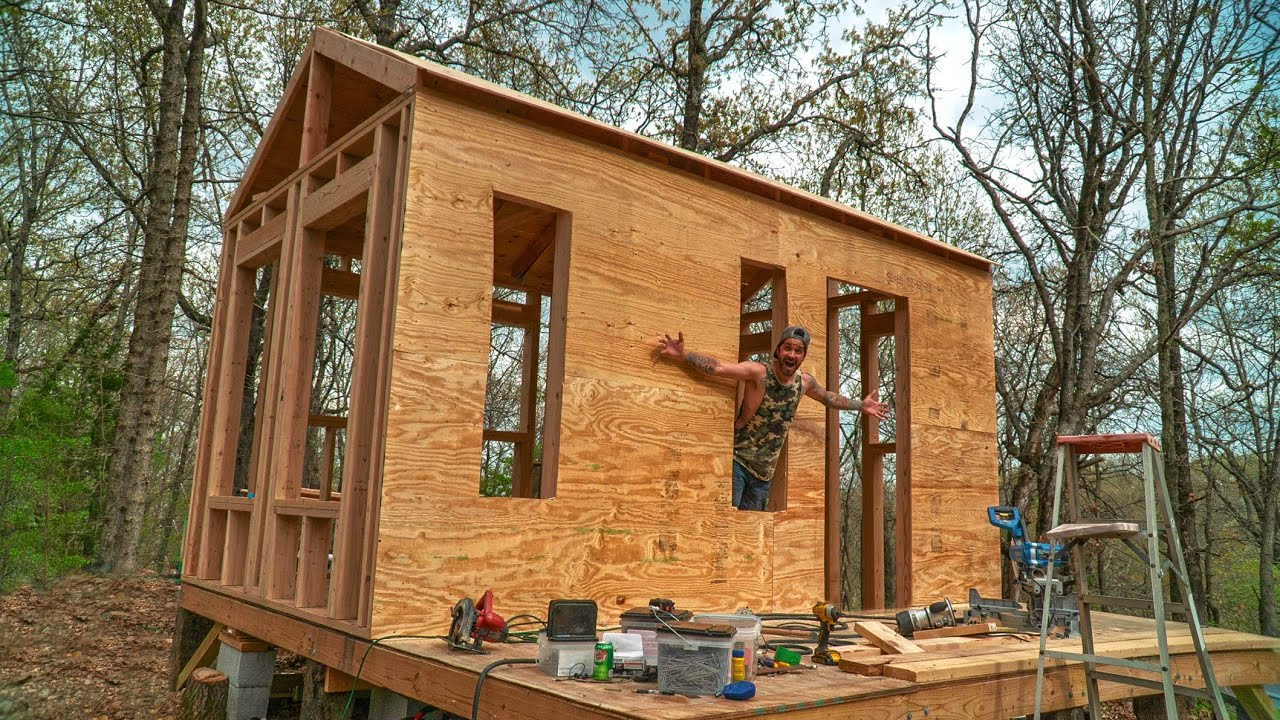 Off Grid Tiny House Sheathing Exterior Walls Monday