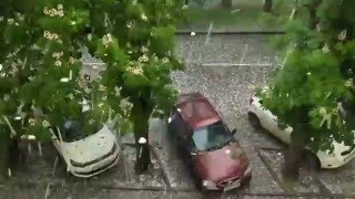 Мощнейший град выпал в Ставрополе