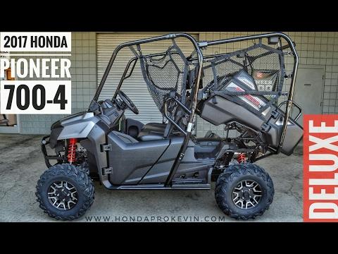 2017 Honda Pioneer 700-4 Deluxe Walk-Around Video | Matte Silver | Review @ HondaProKevin.com