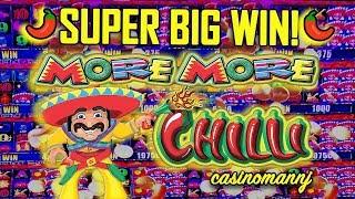 🌶SUPER BIG WIN🌶 - MORE MORE CHILI - 😎HOW AM I GOING TO RECORD THIS? - Slot Machine Bonus