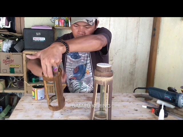 Hanya Dengan Alat Sederhana,,,Hasilkan Lampu Hias Bambu Yang Indah