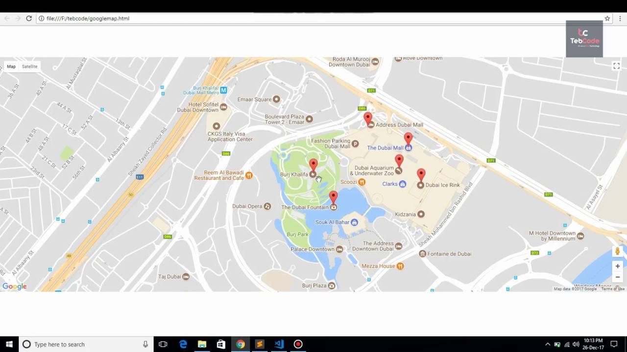 Multiple Markers in Google Map | tebcode