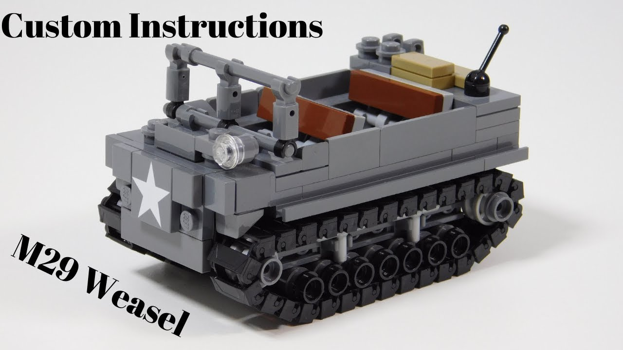 CUSTOM PDF Instructions WW2 WWII Panzer 38t for LEGO® Bricks