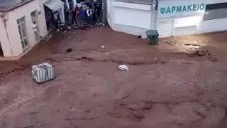 Nubifragio distruttivo in Grecia 27 Giugno 2018