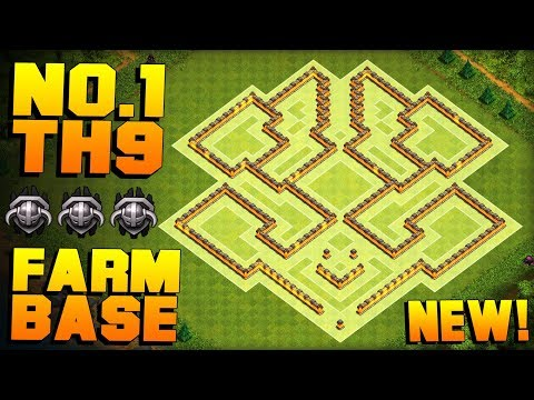 BEST TH9 FARMING BASE 2017 + PROOF!! WORKS IN MASTERS! | NEW CoC Town Hall 9 Base | Clash of Clans