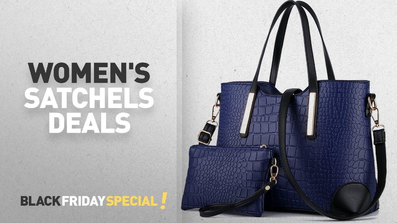 Top Black Friday Women S Satchels Ynique Handle Satchel Handbags Tote Purse Crocodile