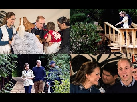 Traditional dances and tour of Canadian rainforest enjoyed by Will and Kate