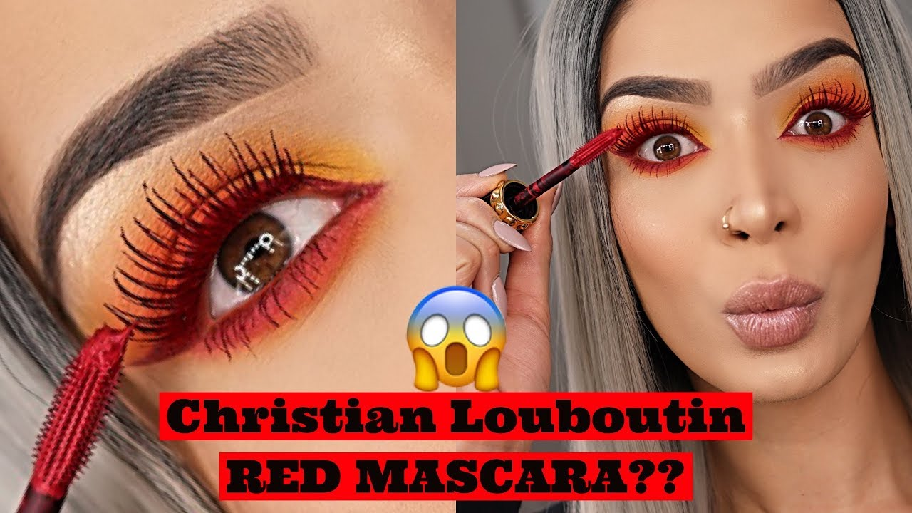 4910ab1c9d4 Louboutin RED mascara?| Fire eyeshadow look - YouTube